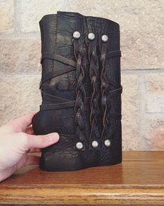 Leather-Bound Journal by AshenFireOriginals on Etsy