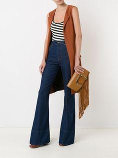 Amapô Calça jeans flare cintura alta Mais