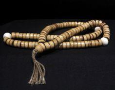 108 Beads Mala - Yak Bone and Old Shells - Nepal