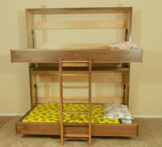 Murphy Bunk beds, cool idea for small rooms or guest.