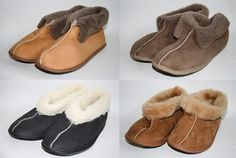 Mens Womans Sheepskin Slippers Calf Natural Leather Xmass Gift Idea BEST Quality in Clothes, Shoes & Accessories, Clothes, Shoes & Accessories | eBay