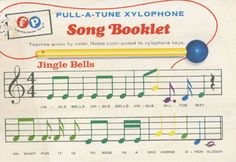 color coded xylophone sheet music   Other Information:   Kid Helper   Pinterest   Other, Sheet ...