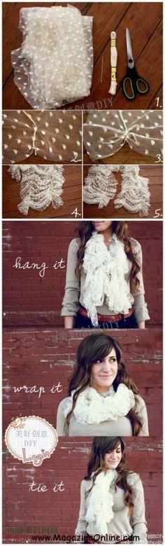 20 DIY Lace Projects | Amazing Online Magazine