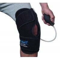 Patented technology provides circumferential compression in conjunction with cooling or heating therapy * Each support features 3 components: an anatomical wrap with easy to adjust hook and loop; a patented removable gel pack that can either be frozen or heated depending on the use; and a unique hand-held pump that adjusts the level of compression
