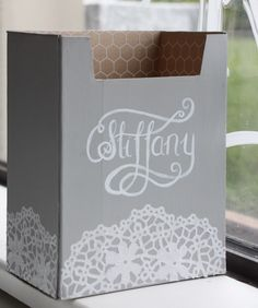 Do you have a box you just couldn't throw away? When that happens, you know it's time to be creative! Check out this recycled box I gave to a friend! Using Chalk Paint, Annie, Painted Furniture, Recycling, Calligraphy, Create, Box, Projects, Painting