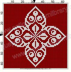 Gallery.ru / Фото #39 - Le Filet Ancien VII - gabbach Xmas Cross Stitch, Cross Stitch Needles, Cross Stitch Charts, Cross Stitch Designs, Cross Stitching, Beaded Cross, Crochet Cross, Blackwork Embroidery, Tapestry Crochet