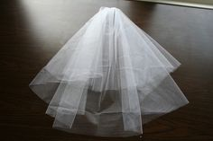 Center gathered circle veil tutorial with instructions for a ribbon edge!