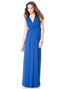 <li>isabella oliver maternity maxi dress <li>sleeveless <li>v-neck <li>knee length  <li>shirring detail <li>poly  / spandex <li>challis <li>dry clean only <li>imported