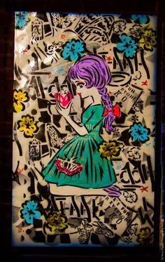 Street art by Lady Aiko Nakagawa