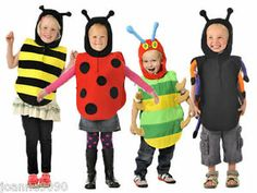 BOYS GIRLS KIDS CHILDRENS BEE BUG TABARD FANCY DRESS COSTUME BOOK DAY WEEK 3 - 5 | eBay