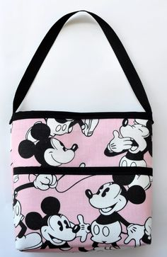 vintage classic Mickey Mouse pink diaper bag