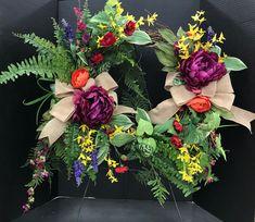 Multi Color Spring Wreath by Andrea