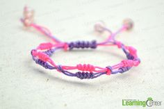 final look of slip knot friendship bracelet