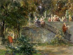 Ferdinand Brutt Gartenfest 1900 Classic Art Poster