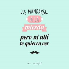 Te mandaría a la mierda... Cool Phrases, Funny Phrases, Quotes En Espanol, Funny Memes, Jokes, Mr Wonderful, The Ugly Truth, Spanish Quotes, Funny Photos