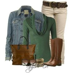 Green fall outfits