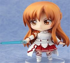 Action figure toys Anime Sword Art Online Asuna Q version Nendoroid Action  Model PVC Collection toys 10cm