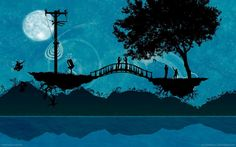 Lovers Image wallpapers Wallpapers) – Wallpapers For Desktop Bridge Wallpaper, Love Wallpaper, Building Silhouette, Lovers Images, Tree People, Vector Background, Art History, Digital Art, Romance