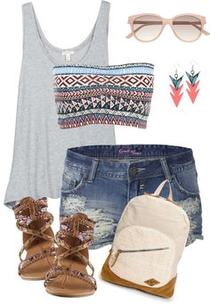 """Tribal bandeau"" by c-michelle ❤ liked on Polyvore"