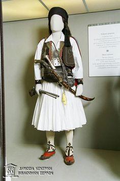 Post your ethnicity in folk/tradional dress Folk Costume, Costumes, Albanian Culture, Greek Warrior, Greek Clothing, King Arthur, Military History, Costume Design, Greece