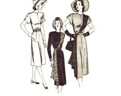 1940s Mail Order Pattern Marian Martin 9078 3 by FriskyScissors
