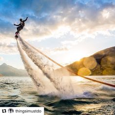 #Repost @thingsimustdo  Is Flyboarding on your bucket list?  #bucketlist #flyboard #extremsport #watersports #extremewatersports