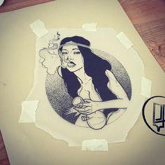 sad_amish_tattooer (SAD AMISH Tattooer) on Instagram Pin Up Tattoos, Great Tattoos, Sexy Tattoos, Unique Tattoos, Tatoos, Tattoo Sketches, Tattoo Drawings, Art Drawings, Dibujos Tattoo