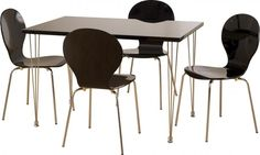 Jb Crantock Mahogany Finish Drop Leaf Dining Table With Hide Away Folding Cha