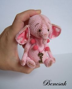 Little Elephant Lady / Teddy Bears & Pals / Teddy Talk: Creating, Collecting, Connecting Crochet Teddy, Knit Or Crochet, Crochet Gifts, Cute Crochet, Crochet For Kids, Crochet Dolls, Crochet Baby, Crochet Animal Patterns, Stuffed Animal Patterns