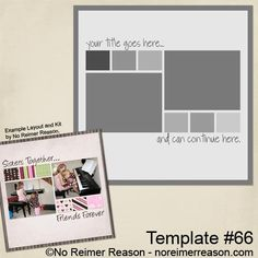 Free Printable Scrapbook Layout Templates | ... to my download page containing all of my available scrapbook freebies