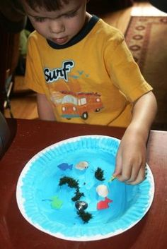 Ocean craft for kids - creating a ship porthole