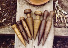 Dibbers (or dibble is a pointed wooden stick for making holes in the ground so that seeds, seedlings or small bulbs can be planted.)