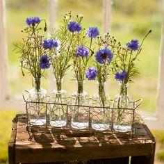 Glass Bottle Floral Display