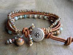 17cm wristImpression jasper boho chic bracelet boho bracelet