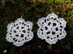 Xmas earrings Snowflakes earrings secret santa gift Xmas gift girl Winter crochet jewelry Christmas earrings christmas jewellery Christmas gifts Festive jewellery A beautiful handmade Xmas earrings, snowflakes earrings , crochet Christmas earrings are very feminine. Winter crochet jewelry will give any woman unique look. Made of Boho style. They are light and easy to wear. If you want to be different and unique than crochet snowflakes earrings are exactly for you) Crochet snowflakes…
