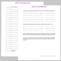 Rsultat de recherche dimages pour hotel registration forms daily schedule printable free time management printable altavistaventures Image collections