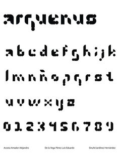 Eejercicio Tipografia Modular Arquenus Xp Geometric TypoNumbersLetters FontsExercisesTypes