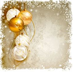 Shiny Ball with Christmas background vector graphics 02