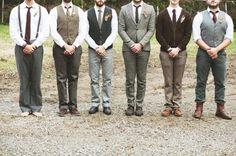 mismatched groomsmen..mine have better bodies