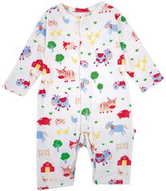 Romper - Barrel Sykes Farmyard - available in sizes newborn upto 6-12 months - RRP £20