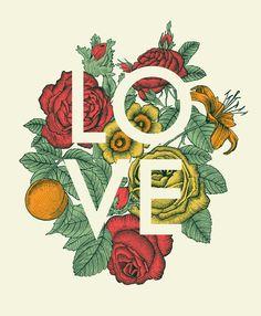Poster | LOVE von Rachel Caldwell