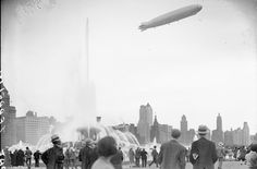 The Graf Zeppelin in 1929: World's first commercial airline left onlookers in complete awe