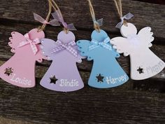 bauble in Crafts Wooden Christmas Tree Decorations, Diy Christmas Ornaments, Handmade Christmas, Christmas Tree Angel, Christmas Makes, Christmas Christmas, Wooden Xmas Trees, Handmade Angels, Shape Crafts