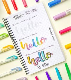 Bullet Journal Titles, Bullet Journal Banner, Bullet Journal Lettering Ideas, Bullet Journal School, Hand Lettering Fonts, Lettering Tutorial, Brush Lettering, Journal Themes, Bullet Journal Inspiration