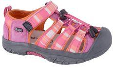 Bugga Dívčí pruhované sandály - růžovo-oranžové