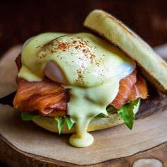 Salmon Eggs Benedict via @feedfeed on…