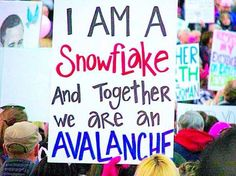 Funniest Women's March Signs From Around the World: I Am A Snowflake