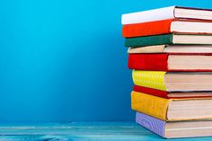Resolution: size: 33 kB - stack of colorful hardback books open book on blue background Focus On What Matters, To Focus, Book Club Books, Books To Read, Starting A Book, Yes Man, Houston Real Estate, University Of Houston, Beauty Book