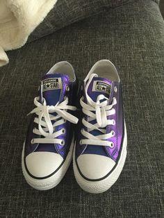 converse all star gr. 5 / 37,5 metallic blau lila wie neu top sneaker