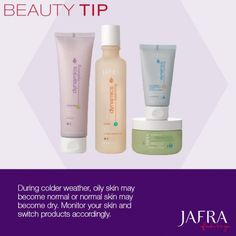 Brave the winter with this tip! Monitor your skin and switch products accordingly. http://jafra.me/xmj